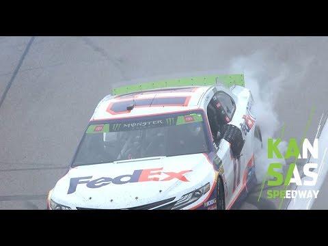 Federal Express yourself: Denny Hamlin burns it down at Kansas | NASCAR at Kansas Speedway