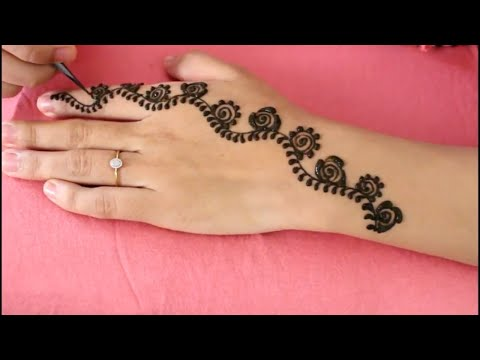 How To Draw Henna Designs On Paper Step By Step | Easy