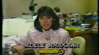 WRAL TV-5 Action Newsbrief with Adele Arakawa 9/26/1986