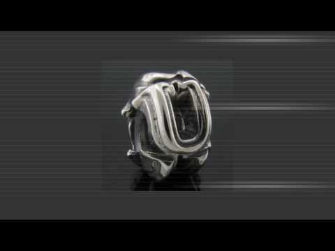 Sterling Silver Alphabet Beads for Pandora Chamilia European Charm Bracelets