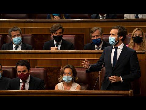 Pablo Casado interviene en la sesión de control al...