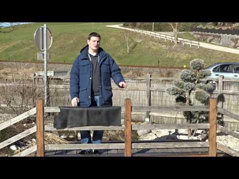 Falten in der Teichfolie - DIY