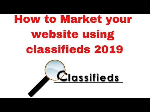 How to Market your website using classifieds 2019