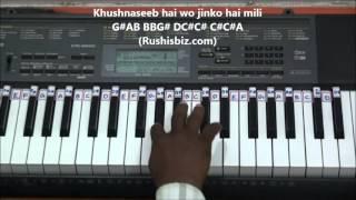 Har Kisi Ko Nahi Milta - Piano Tutorials - Jaan   - YouTube