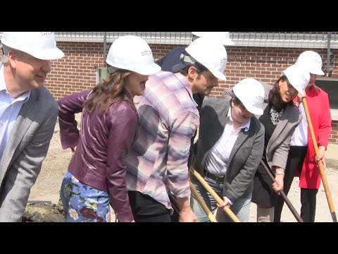 Country star Brad Paisley manned a back hoe to break ground for a free grocery store in Nashville, Tennessee. The Store, in partnership with Belmont University, will help needy families get food. (April 3)