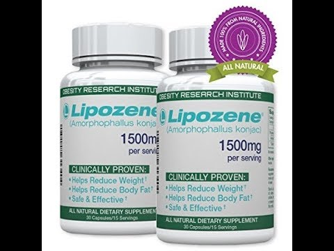 Lipozene Green Diet Pills - All Natural Weight Loss Supplement - Appetite Suppressant and Control -
