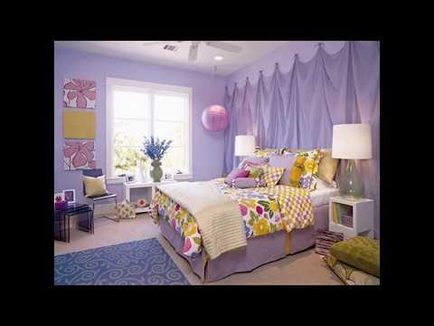 Lila kinder schlafzimmer design