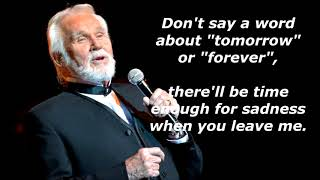 For the Good Times  KENNY ROGERS (with lyrics)
