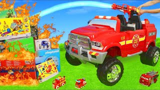 Fire Truck Toys: Ride On Surprise Toy Vehicles, Cars, Tractor, Trains & Excavator for Kids