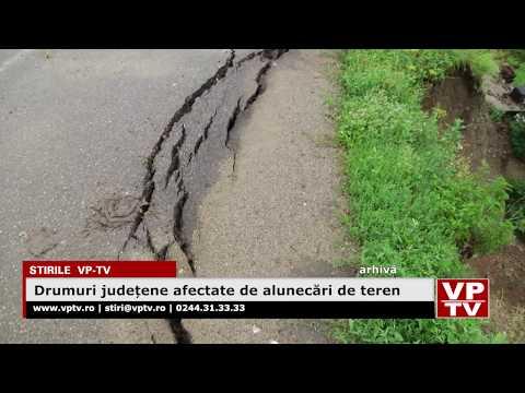 Drumuri județene afectate de alunecări de teren