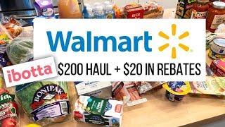 $200 WalMart Grocery Haul + Meal Plan // How Ibotta Works! // December 21 2018