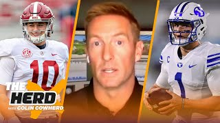 Joel Klatt talks Mac Jones with 49ers, Zach Wilson & DeVonta Smith's draft value | NFL | THE HERD