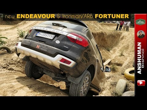 New Endeavour & Ironman/ARB Fortuner Trying The Same Offroad Pit At ORAZ
