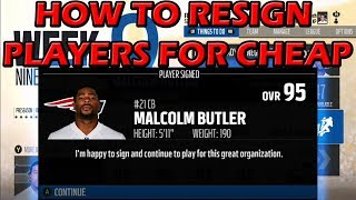 HOW TO RESIGN ANY PLAYER AND SAVE CAP SPACE! MADDEN 18 CONNECTED FRANCHISE TIPS AND TRICKS