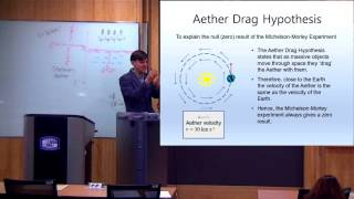 These videos are taken from a lecture course on Modern Physics I taught at the Catholic University of Korea in Spring 2016.In this class we see the null result of the Michelson Morley experiment, show how this could be explained via the total Aether drag hypothesis, and then see how with total Aether drag stellar aberration cannot be explained. These are the final results which motivated the theory of Special Relativity.Link to the slides used in this lecture: https://drive.google.com/file/d/0B8hDfVvVdCImeGFFTXJtYU9nTkU/view?usp=sharing