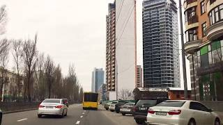 Driving Downtown - KIEV, UKRAINE.