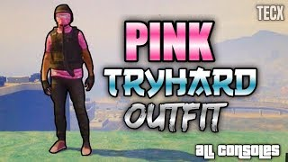 GTA 5 Pink Tryhard Run And Gun Outfit Tutorial - ALL CONSOLES
