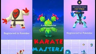 Maractus  - (Pokémon) - Pokemon Go Maractus, Throh & Sawk Catches