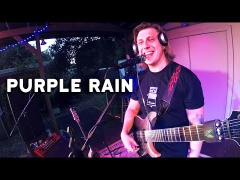 A solo musician fulfilling a request to play Purple Rain by Prince and he delivers