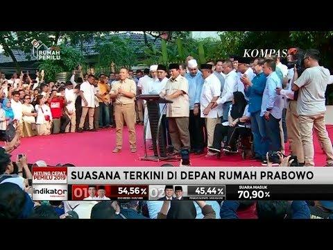 Prabowo: Hasil 'Exit Poll' dan 'Quick Count' Kita Menang