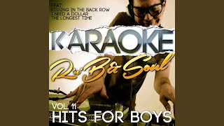 Hurt (In the Style of the Manhattans) (Karaoke Version)