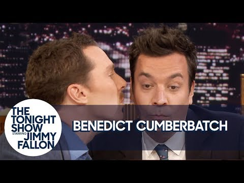 Benedict Cumberbatch Gives Jimmy a Kiss and Has Some Hot Sax (видео)