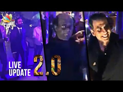 2.0 audio launch LIVE updates   Rajini, Amy Jackson, Dhanush, Karan Johar, RJ Balaji   Full Video