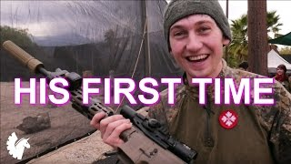 Canadian Sniper Plays with an AEG for the FIRST TIME EVER (Jungle Island Airsoft Gameplay)