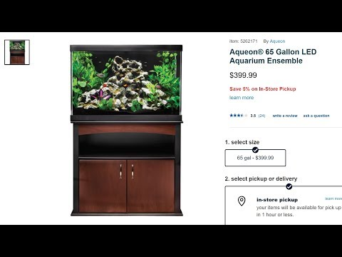 Aqueon/Petsmart 65 Gallon Aquarium Ensemble REVIEW: DONT BUY!