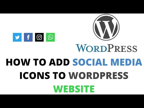 How to add social media icons to wordpress website