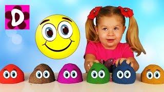 Кинетический Песок ЛЕПИМ КОЛОБКИ Учим Цвета Видео для Детей Малышей kinetic sand learn colors