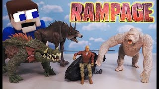 RAMPAGE MOVIE TOYS Lizzie vs George vs Ralph Unboxing Commercial Stop Motion Adventure 2018