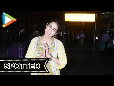 Sara Ali Khan SPOTTED at Airport, Mumbai