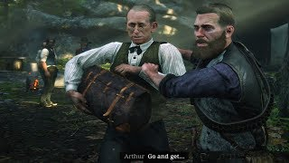 Red Dead Redemption 2 - Arthur Kicks Out Herr Straus From Camp (Arthur Gets Mad) RDR2 2018