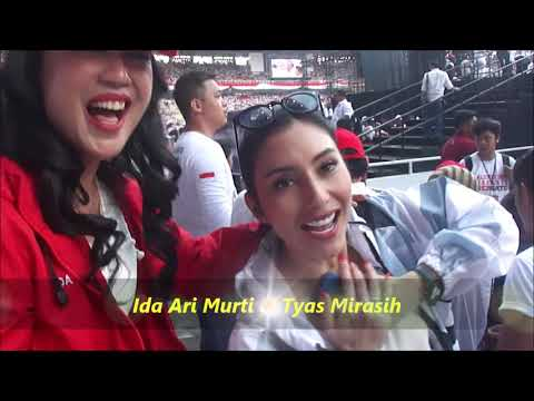 Ida Arimurti, Tyas Mirasih Bareng Jokowi & Warga Putihkan Jakarta Dengan Lagu Padamu Negri