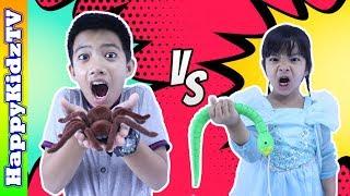 ละครสั้น แมงมุม VS งู Snake VS Spider รีวิวของเล่น พี่แชมป์น้องปาน