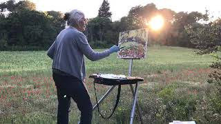 Painting in the Poppy Field