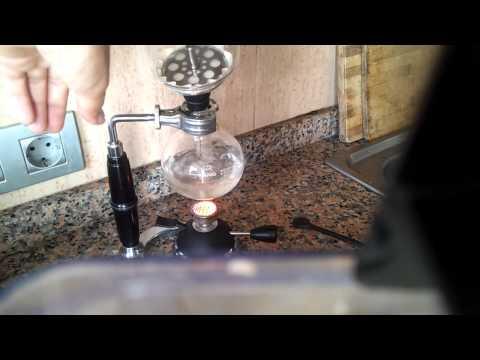 Mi cafetera de vacío en acción