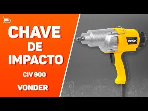 Chave de Impacto Elétrica 1/2 Pol.  com Maleta e 4 Soquetes - Video