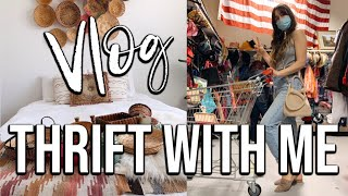 THRIFT WITH ME | Vlog Style | Thrifting For Bohemian Home Decor