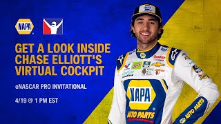 Chase Elliott NAPA View- eNASCAR Pro Invitational