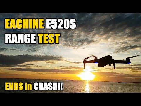 Eachine E520S GPS 4K Camera Drone Range Test Ending in a CRASH