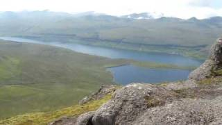 preview picture of video 'Faroe Islands view from Slættaratindur highest mountain'