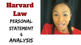Reading My Harvard Law Personal Statement   Ep. 1, read-throughs