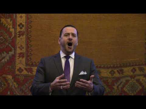"Erik Chalfant sings Samuel Barber's ""Dover Beach"" in live recital performance, 2018"