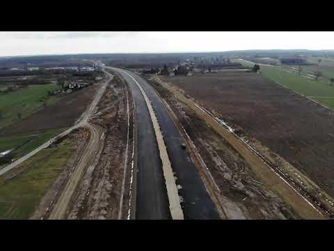 Planowana droga S19 odc. 3 obwodnica m. Kraśnik - widok lotniczy - styczeń 2021 r.
