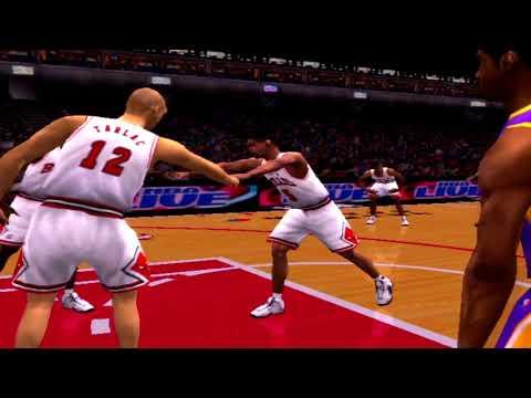 NBA Live 2001 Gameplay Chicago Bulls vs Los Angeles Lakers