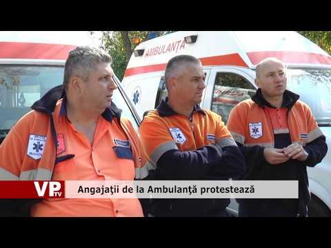 Angajaţii de la Ambulanţă protestează