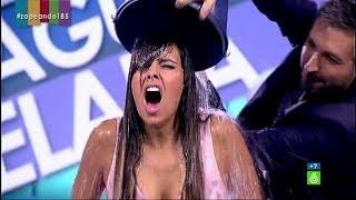 Cristina Pedroche se moja con el  #IceBucketChallenge en 'Zapeando'