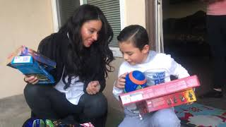 Kimberly Moore surprises family in LA after little boy pays it forward to help a friend in need!